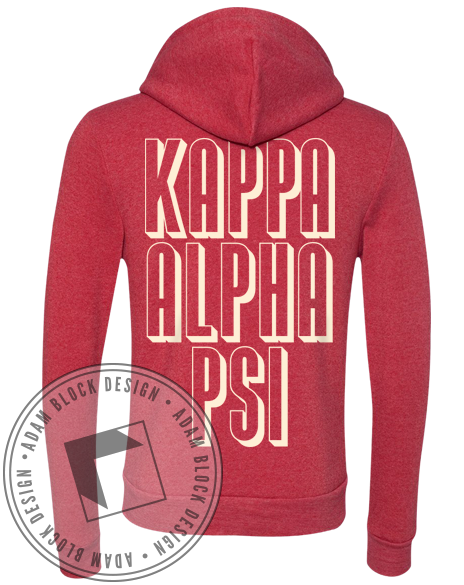 Kappa Alpha Psi Diamond Hoody-Adam Block Design