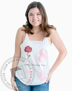 Kappa Alpha Theta 1870 Rose Tank-Adam Block Design