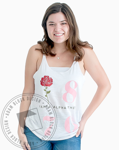 Kappa Alpha Theta 1870 Rose Tank-gallery-Adam Block Design