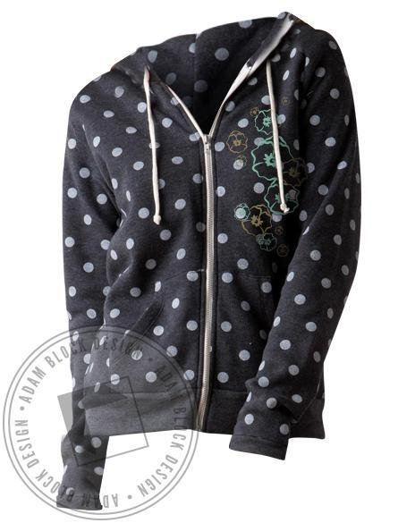 Kappa Alpha Theta Bid Day Polka Dot Hoodie-gallery-Adam Block Design