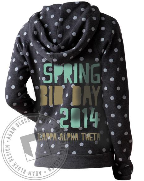 Kappa Alpha Theta Bid Day Polka Dot Hoodie-Adam Block Design