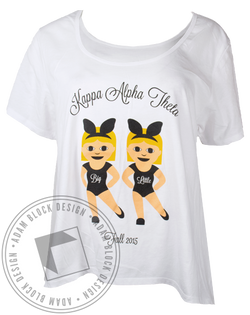 Kappa Alpha Theta Big Little Tshirt-Adam Block Design