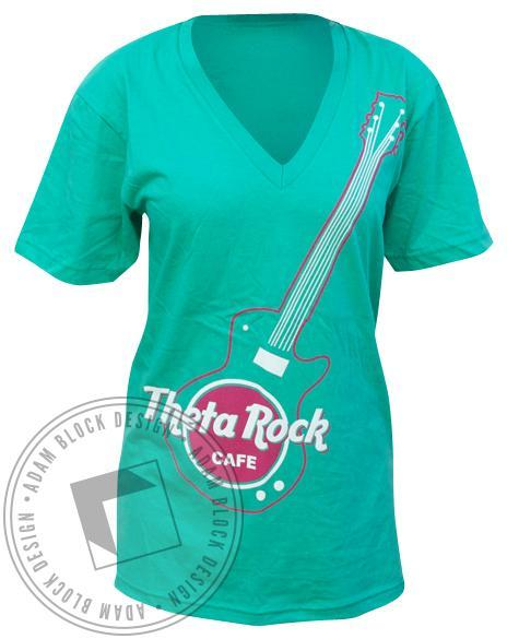 Kappa Alpha Theta CASA V-Neck-Adam Block Design