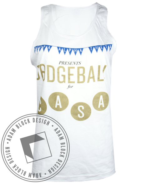 Kappa Alpha Theta Dodgeball Tank-Adam Block Design