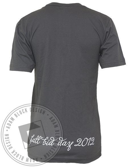 Kappa Alpha Theta Fall Bid Day V-Neck-Adam Block Design