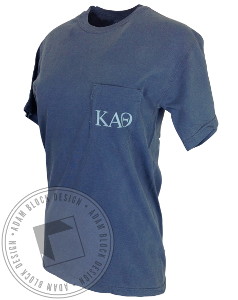 Kappa Alpha Theta Flag Pocket Tee-gallery-Adam Block Design