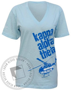 Kappa Alpha Theta Fly Bid Day V-Neck-Adam Block Design