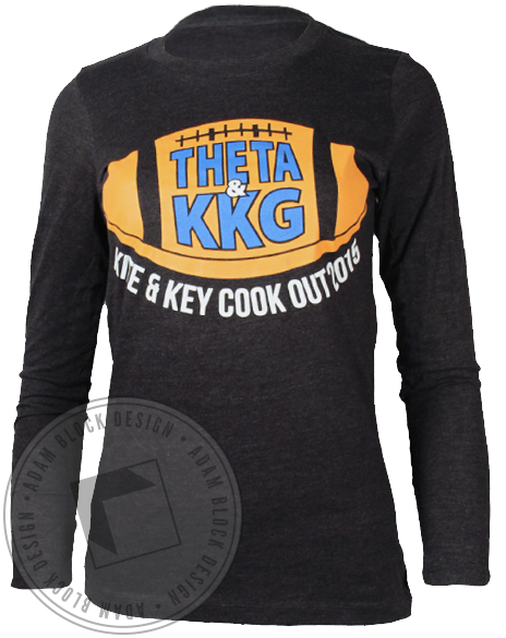Kappa Alpha Theta Game On Longsleeve Shirt-gallery-Adam Block Design