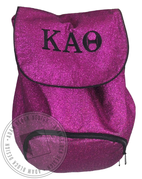 Kappa Alpha Theta Glitter Backpack-gallery-Adam Block Design