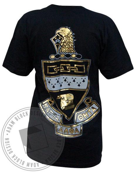 Kappa Alpha Theta Gold Foil KAT V-Neck-gallery-Adam Block Design