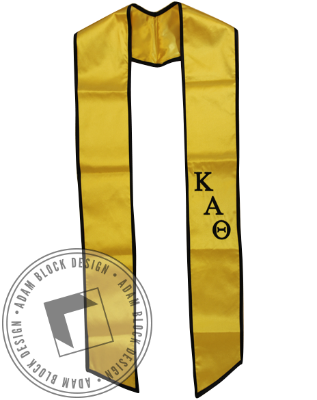 Kappa Alpha Theta Graduation Stole-Adam Block Design