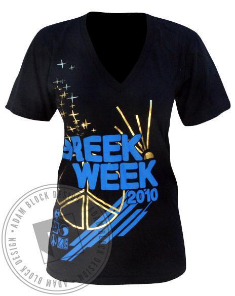 Kappa Alpha Theta Greek Week V-Neck-Adam Block Design