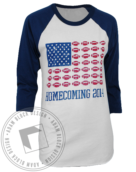 Kappa Alpha Theta Homecoming Baseball Tee-Adam Block Design