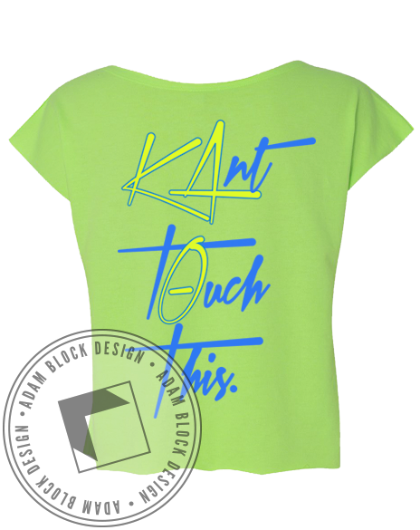 Kappa Alpha Theta Kant Touch This Front-Adam Block Design