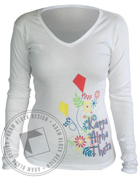 Kappa Alpha Theta Kite Long Sleeve Tee-Adam Block Design
