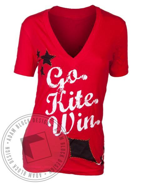 Kappa Alpha Theta Kite Red V-Neck-Adam Block Design