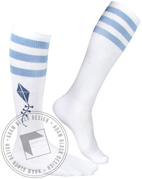 Kappa Alpha Theta Kite Stripe Socks-Adam Block Design