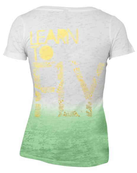 Kappa Alpha Theta Learn To Fly Bid Day Ombre V-Neck-Adam Block Design