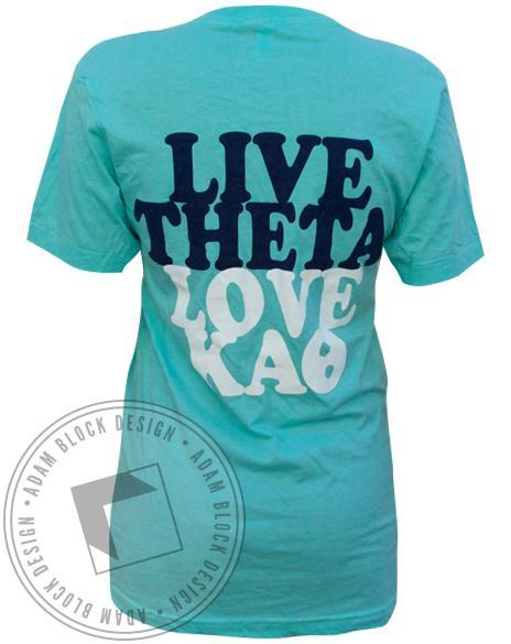 Kappa Alpha Theta Live Love V-Neck-Adam Block Design