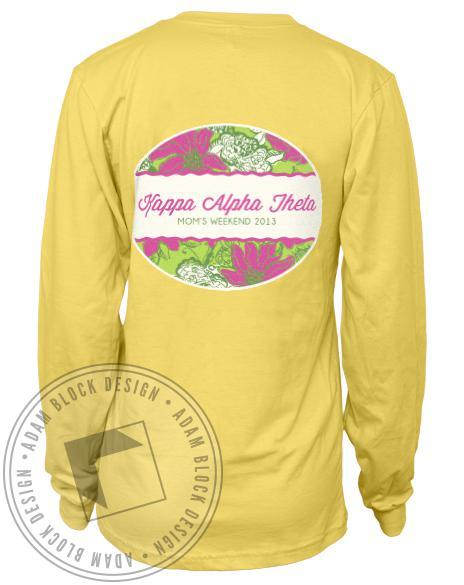 Kappa Alpha Theta Mom's Weekend Long Sleeve Tee-Adam Block Design