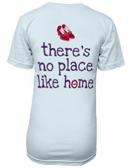 Kappa Alpha Theta No Place like Home V-neck-Adam Block Design