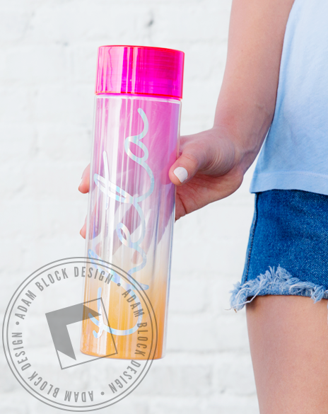 Kappa Alpha Theta Ombre Waterbottle-Adam Block Design