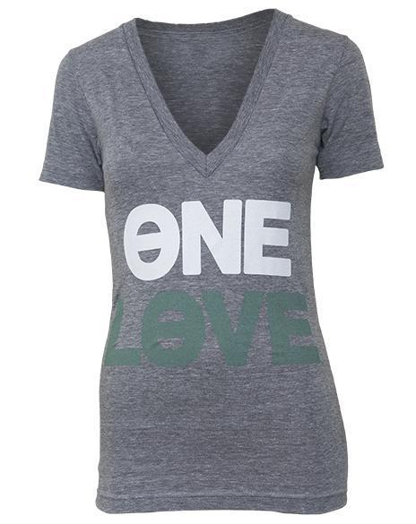 Kappa Alpha Theta One Love Spring V-Neck-gallery-Adam Block Design