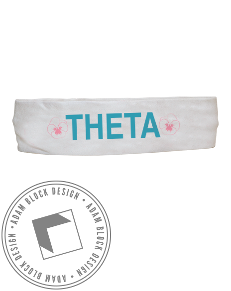 Kappa Alpha Theta Pansy Headband-Adam Block Design