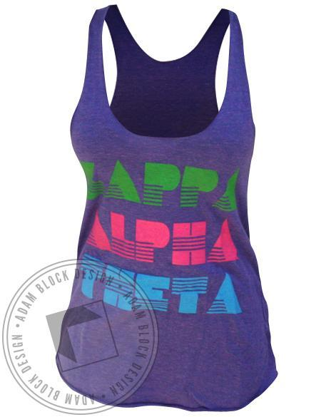 Kappa Alpha Theta Peace Purple Tank-gallery-Adam Block Design