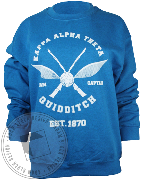 Kappa Alpha Theta Quidditch Sweatshirt-gallery-Adam Block Design