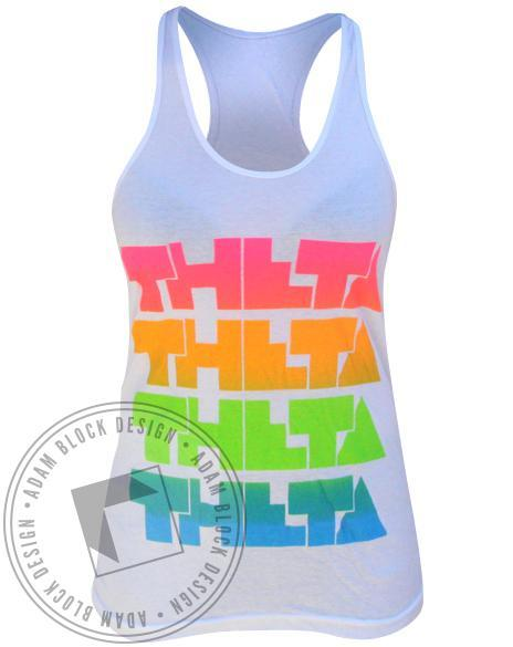 Kappa Alpha Theta Recruitment Tank-Adam Block Design