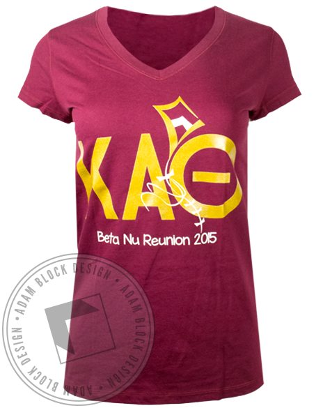 Kappa Alpha Theta Reunion Tshirt-Adam Block Design