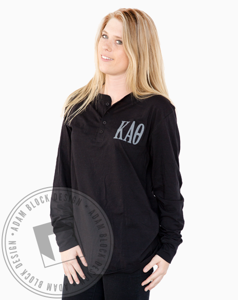 Kappa Alpha Theta Simple Letter Henley-gallery-Adam Block Design