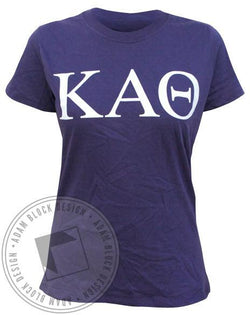 Kappa Alpha Theta Simple Tee - Purple-Adam Block Design