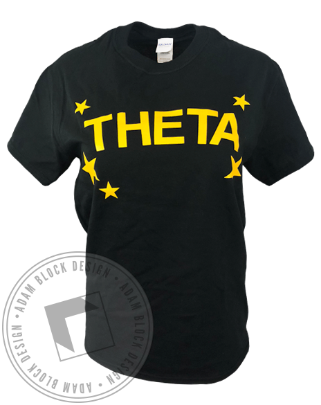 Kappa Alpha Theta Star T-Shirt-Adam Block Design