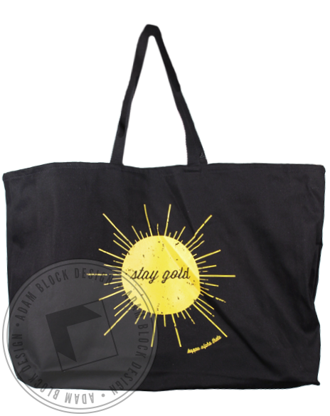 Kappa Alpha Theta Stay Gold Tote Bag-Adam Block Design