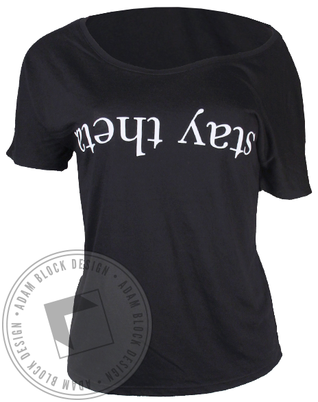 Kappa Alpha Theta Stay Theta Tshirt-Adam Block Design