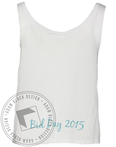 Kappa Alpha Theta Think Theta Mandala Crop Tank Top-Adam Block Design