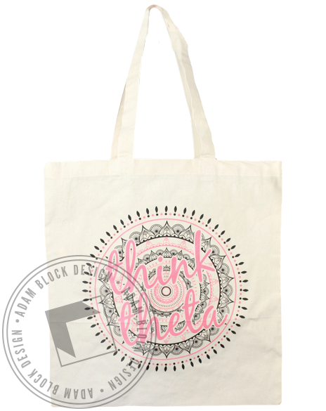 Kappa Alpha Theta Think Theta Tote Bag-Adam Block Design