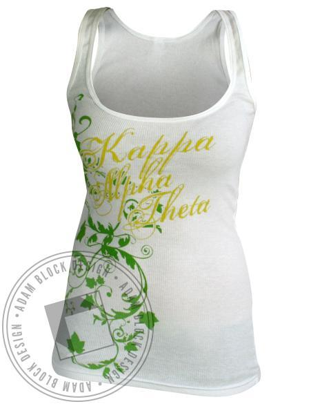 Kappa Alpha Theta Vines Tank-Adam Block Design