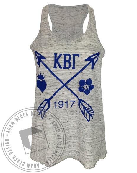 Kappa Beta Gamma 1917 Tank Top-Adam Block Design