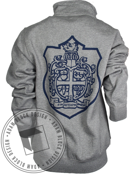 Kappa Beta Gamma Crest Long Sleeve Half-Zips-gallery-Adam Block Design