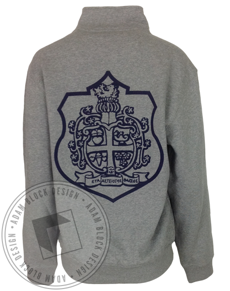 Kappa Beta Gamma Crest Long Sleeve HalfZip-gallery-Adam Block Design