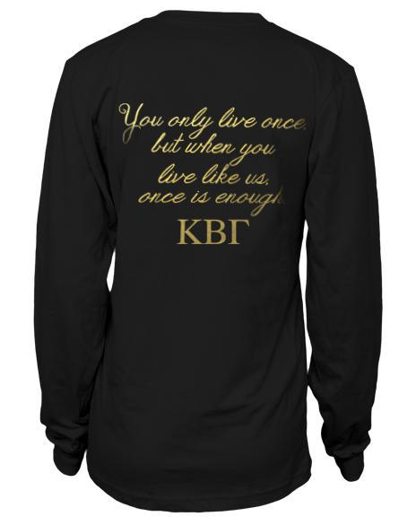 Kappa Beta Gamma Infinity Long Sleeve-Adam Block Design