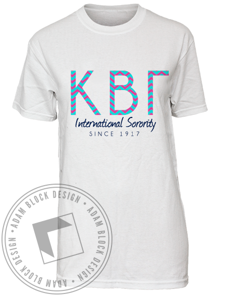 Kappa Beta Gamma Tee Shirt-Adam Block Design