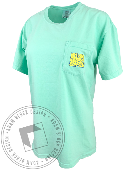 Kappa Delta 80s With The KDs Pocket Tee-Adam Block Design