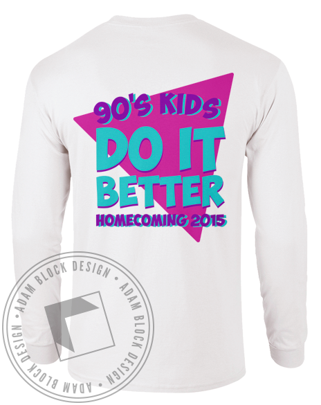 Kappa Delta 90's Kids Longsleeve Shirt-Adam Block Design