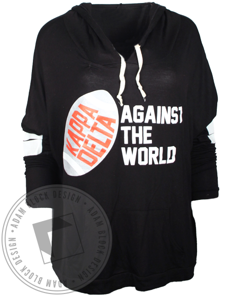 Kappa Delta Against the World Hoodie-gallery-Adam Block Design