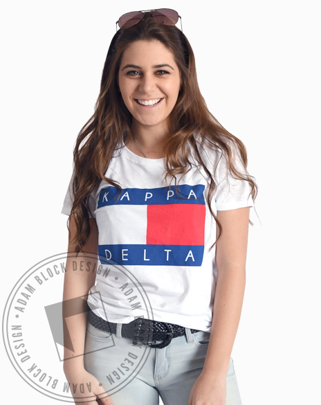 Kappa Delta All American Tee-Adam Block Design