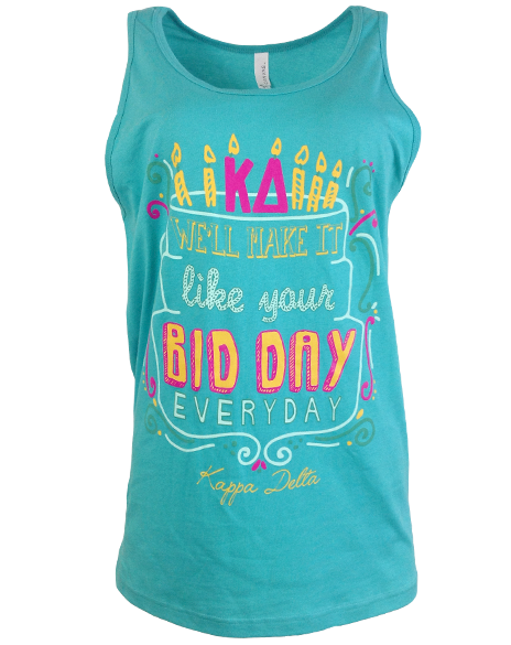 Kappa Delta Bid Day Everyday Tank-Adam Block Design